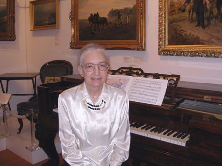 Kay playing historic square piano on Dec. 1, 2012.